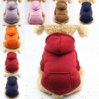 Pet Dog Puppy Cat Clothes Coat Jacket Apparel Jumper Sweater Vest Costume Hoodie