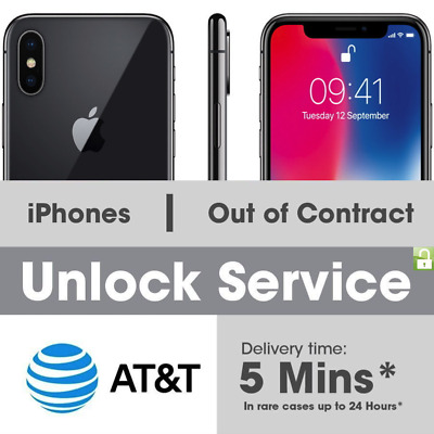AT&T Factory Unlock code service for iPhone X 8 8+ 7 7+ 6 6S 6S+ SE fast 1-24hrs