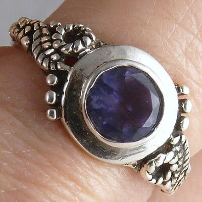 Filigree Feature Gem Size US 7.75 SILVERSARI Ring Solid 925 Stg Silver + IOLITE