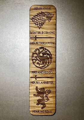 Wooden Bookmark Game Of Thrones House Stark, Lancaster, Targaryen Christmas Gift