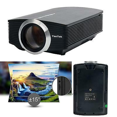 Video Projector Portable Movie Projector big Screen,1080P--iPhone Android Laptop