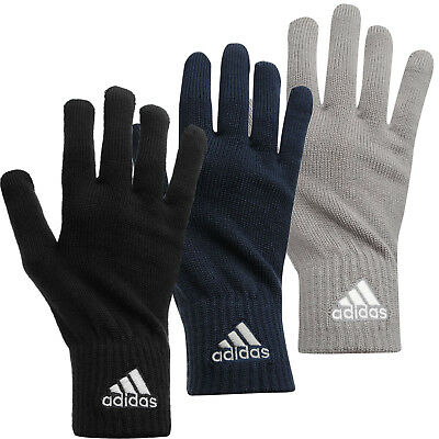 Adidas Knitted Gloves Mens Football Running Training Sports Cold Weather Winter
