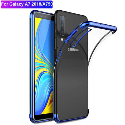 For Samsung Galaxy A7 2018/J4 J6Plus Case Slim Clear Shockproof TPU Bumper Cover