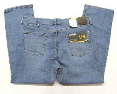 Men's Lee Regular Fit Stretch Straight Leg Blue Jeans (2008911) Monroe