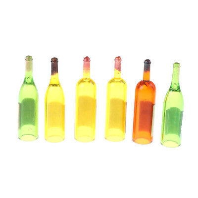 6 Bottle Wine for 1:12 Scale Dollhouse Miniatures Dining Drink@ FO