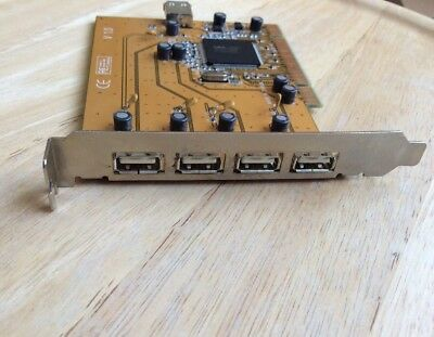 4-Port USB 2.0 PCI Controller Card