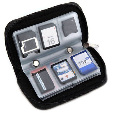 22 Slots SD SDHC MMC CF SD Memory Card Storage Carrying Pouch Case Holder Wallet