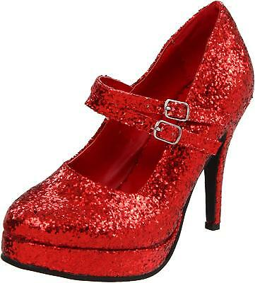 9be4c51cf2d3 ELLIE SHOES WOMENS Eden Closed Toe Ankle Strap Classic, Red Glitter ...
