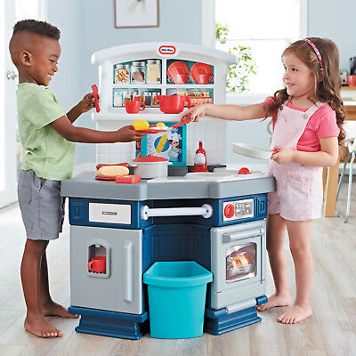 Pretend Play Kitchen Set Kids Toy Cooking Food Bake Toddler Plastic