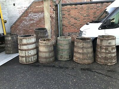 3 Rare Early-Mid 19th Century Salt Beef Barrels  Like HMS Victory Galley Storage