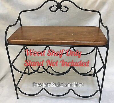 Custom Made Wood Shelf Only for the Longaberger Wrought Iron Beverage Center