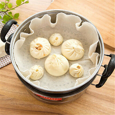 Cotton Steamer Non Stick Pad Round Dumplings Mat Home Cooking Mesh Tool FO