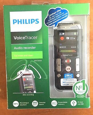 BRAND NEW 8gb Philips Voice Tracer (DVT2510)