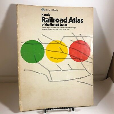 Vintage 1980 Handy Railroad Atlas of the US