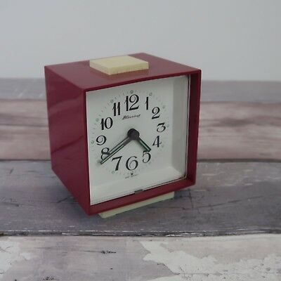Vintage Pink Blessing West Germany Alarm Clock