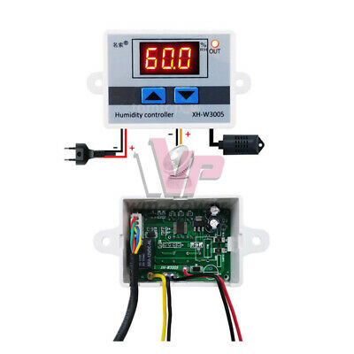 Multifunctional XH-W3005 Humidity Controller Hygrometer Switch With Sensor W0F1
