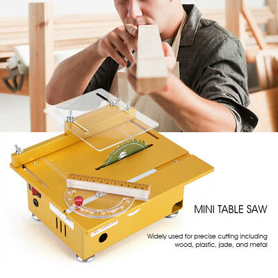 Mini Precision Small Table Saw Blade DIY Woodworking Cutting Machine 24V 100W