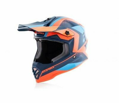 Acerbis Steel Kids Kinderhelm Helm Motocross Airoh Twist Oneal Orange Blue Ktm