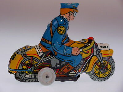 "GSMOTO *TRICKY MOTORCYCLE"" MARX USA, WIND UP OK, NEUWERTIG/NEARLY NEWnVG BOX !"