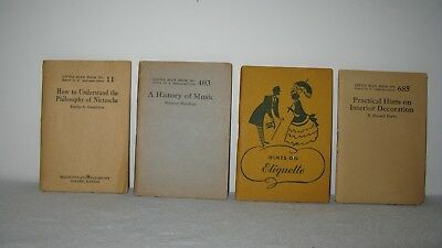 LOT of 4  Early 1920s Little Blue Books  #11, 403, 556, 685