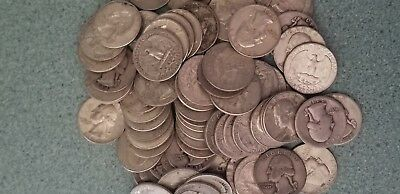 1 - Radom picked 90% silver quarter - 25c - Readable date - Buy 7 get 1 free!!!