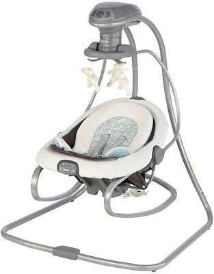 Baby Swing And Rocker Grey Metal And Plastic 6 Speeds Vibrating and 10 Melodies