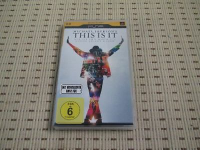 Michael Jackson´s This Is It UMD Music für Sony PSP *OVP*