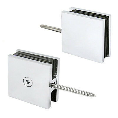 SS 316 mirror square glass clamp for 1/2 or 3/8 glass or railing post GAS305M-H