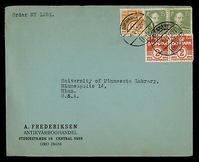 Dr Who 1947 Denmark To Usa Multi Franked C22760