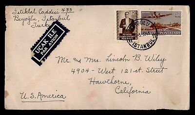 Dr Who 1952 Turkey To Usa Air Mail C28312