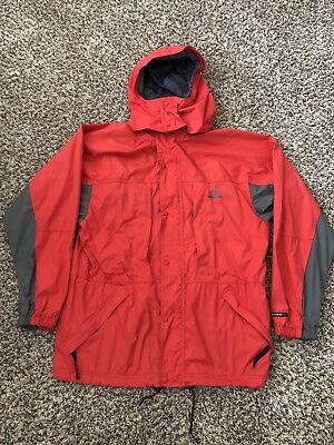 b514e7b9c Vintage Nike ACG Jacket Men's Medium Red Outdoor Windbreaker Hooded Full Zip