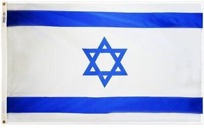 Israel Country Flag Nation of Israel Flag 4x6 ft OUTDOOR NYLON Made in USA