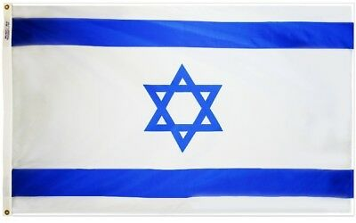 Israel Country Flag Nation of Israel Flag 5x8 ft OUTDOOR NYLON Made in USA
