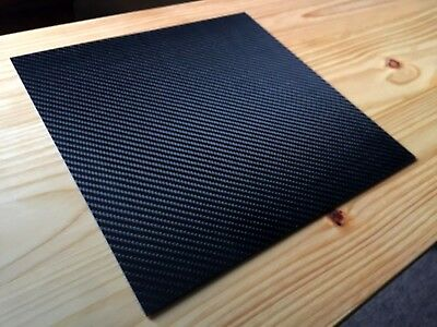 """HOLIDAY PRICING 2mm Carbon Fiber Sheet Plate 11.75""""Square Twill Weave Gloss"""