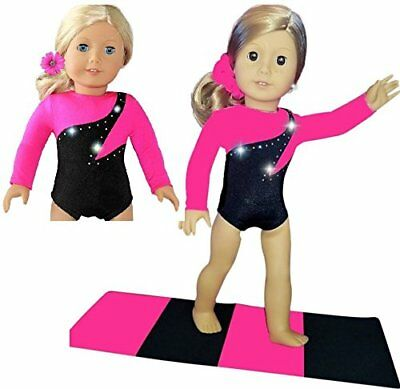 Gymnastic Outfit compatible with American Girl Doll Clothes and Accessories 3 PC