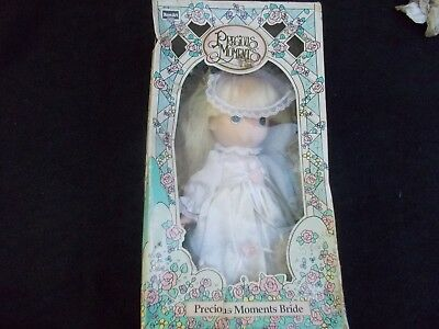 "Vintage 10"" Precious Moments Bride Doll 1992 Rose Art New without Tag"