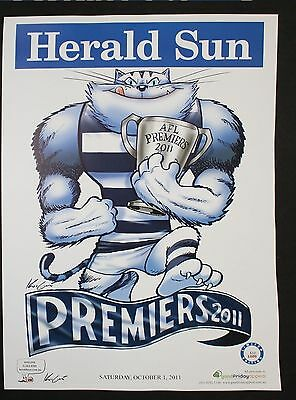 2011 Mark Knight Herald Sun Limited Edition Poster Number 30 Geelong AFL Cats