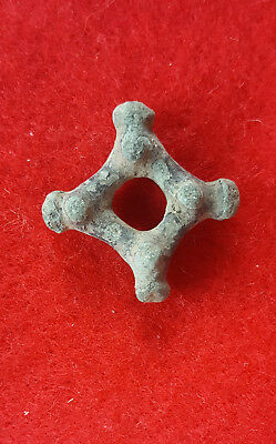 P:75  Ancient Celtic Bronze Proto Money Piece Knobed Design