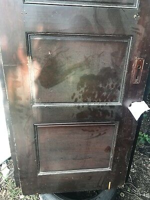 5 Lot Of ANTIQUE 4 PANEL SOLID WOOD PAINT BARN INTERIOR DOOR SALVAGED, Repurpose