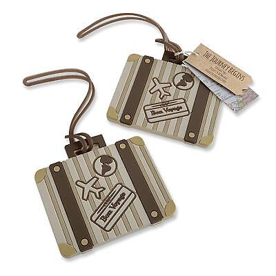 7469d0c6f3f1 PERSONALIZED LUGGAGE TAG Holder, Custom Name, Wedding Favor Gift ...