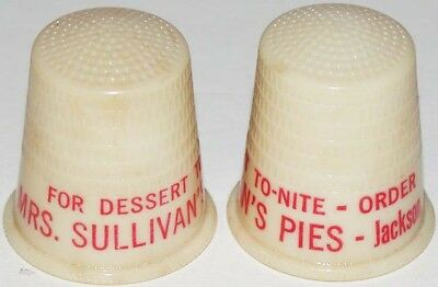 Vintage thimble MRS SULLIVANS PIES Jackson Tennessee unused new old stock n-mint