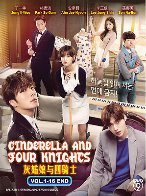 Korean Drama DVD: Cinderella And The Four Knights (1-16 End) Eng_Sub + Extra DVD