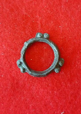 H25:  Ancient Celtic Bronze Proto Money Piece Knobed Design