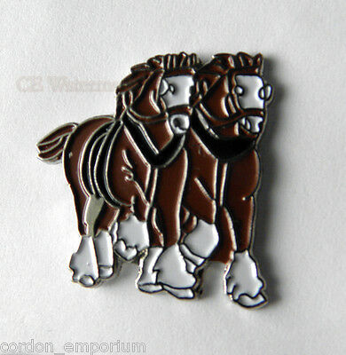 Clydesdale Working English Horse Lapel Pin Badge 1 Inch