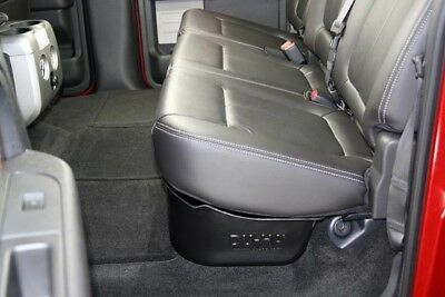 Du Ha 20078 Black Under Rear Seat Storage For Ford F150 Crew Cab