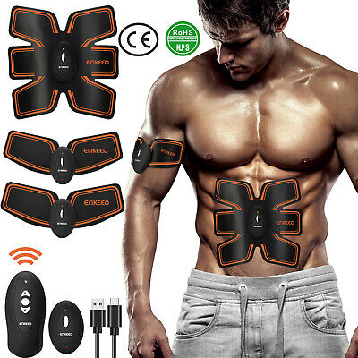 EMS Trainer ABS Stimulator Body Fit Belt Muscle Toner Therapy Abdominal Exercise