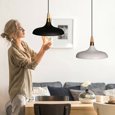 Modern Simple Pendant Lights Creative Fashion Macaron Fixture Wood Hanging Lamp