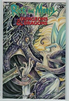 Rick and Morty vs Dungeons & Dragons 1 variant cov 1:10 incentive Oni Press IDW