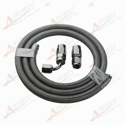 Nylon Cover Braided AN10 Oil Fuel Gas Line Hose 1M + Swivel Hose End Fitting