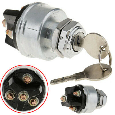 1Set Universal 3 Position Ignition Starter Key Switch Lock with Momentary Start